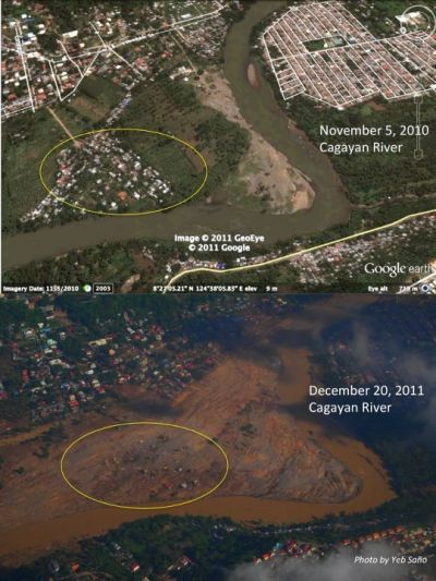 theurbanhistorian:  Before and after Sendong