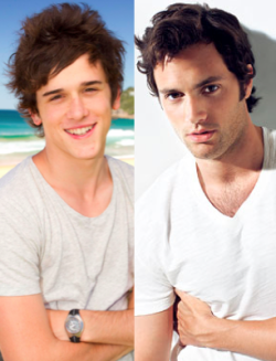 FROM SUMMER BAY TO THE UPPER EAST SIDE CHARLES COTTIER AS DAN HUMPHREY (PENN BADGLEY) We've decided to take a drive down 'Hypothetical Highway' and see which of our fave 'Home & Away' stars would make the perfect sleek and sexy cast in an Aussie version of 'Gossip Girl'.  Charles Cottier (Dex) sure makes an uber cute Dan Humphrey (played by Penn Badgley).
