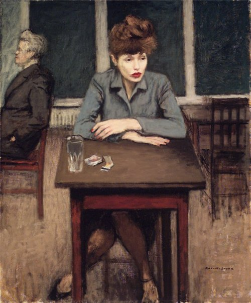 artandopinion:  Cafe Scene 1946 Raphael Soyer