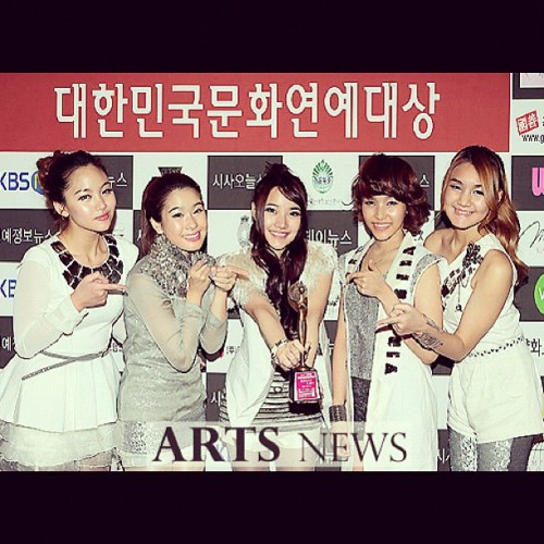 Candy Mafia @ the 19th korean Culture & Entertainment Awards SO PROUD Nett's Twitter Update on the 15th of Dec: Kum sa hub ni da saranghae #candymafia #korea #awards [Trans] Thank you, I love you #candymafia #korea #awards