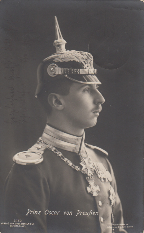 the-seed-of-europe:  kaiserbund:  hatsfromhistory:  carolathhabsburg:  Prinz Oskar von preussen and his WONDERFUL pickelhaube.  PICKELHAUBE!    You people!  If I had a Pickelhaube, I would wear it all the time.  ALL THE TIME.