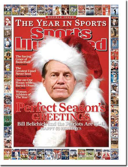 The classic Belichick Christmas shot…