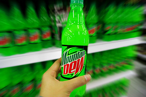 who whats to climb mountain DEW