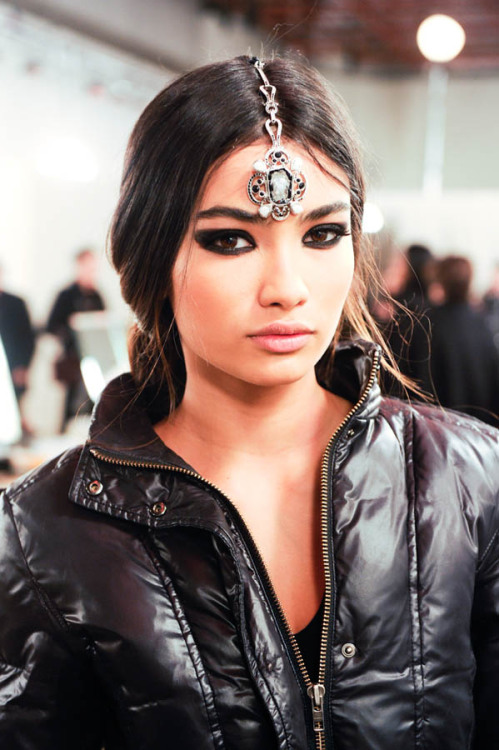 Kelly Gale backstage at the Chanel Paris - Bombay show (via the Coveteur)