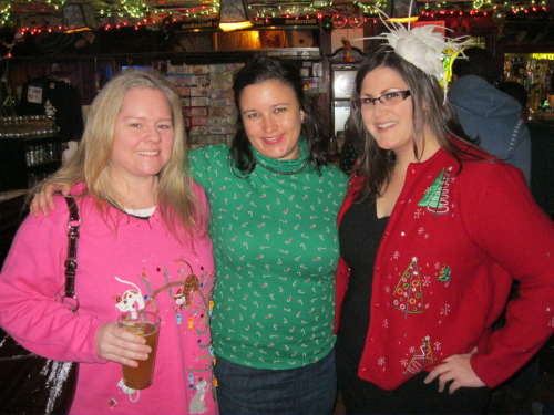 GPOYW: Ugly Christmas Sweater Pub Crawl edition.  I didn't win. Probably because I was dressed like a PTA mom.