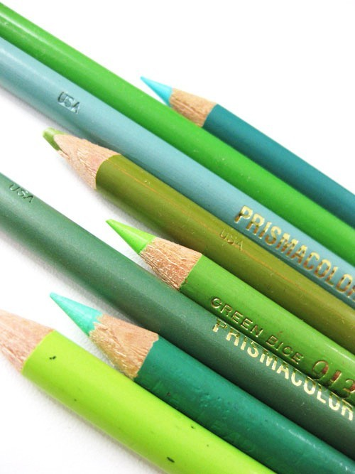 Green Color Pencils