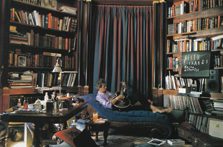 Who knew Keith Richards had such a cozy library…and apparently he had a secret longing to be a librarian! Check out these libraries of famous people.