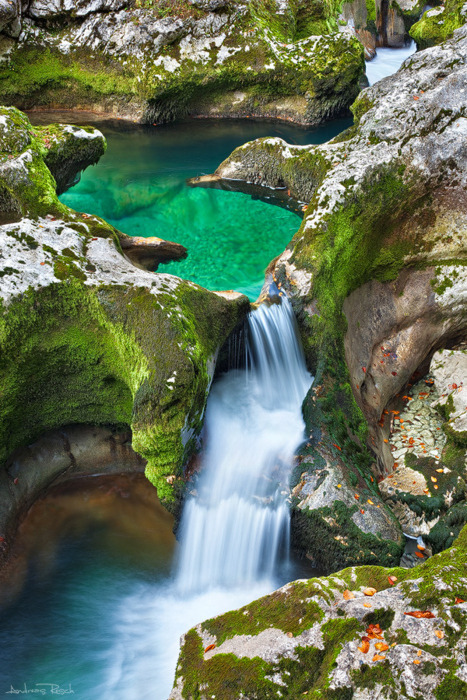 bluepueblo:  Emerald Pool, The Alps, Austria photo by andreasresh