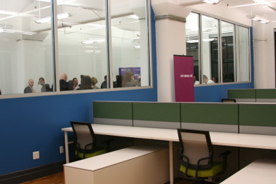 "Check out photos of NYU-Poly's new DUMBO Incubator for digital media and tech startups, part of the City's network of affordable workspaces, where they held an open house last week. Located at 20 Jay Street, the DUMBO Incubator offers more than 30 dedicated work stations and an equal number of flexible access work stations, as well as networking and mentoring opportunities and business assistance for entrepreneurs. Featured speakers at the event included Brooklyn Borough President Marty Markowitz, NYCEDC President Seth Pinsky, NYU-Poly President Jerry Hultin, DUMBO Improvement District Executive Director Alexandria Sica, and Two Trees Management Director of Leasing Caroline Pardo.  Read more about the growth of tech startups in DUMBO, Brooklyn in the Wall Street Journal: ""DUMBO is Jumbo with Tech""  via nycedc:"