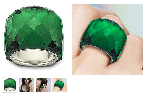 Nirvana Emerald Ring -  OMG, I am in love (again)! This beautiful emerald crystal ring from Swarovski, would make any girl happy this Christmas!
