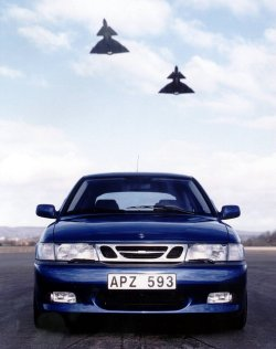 "SAAB 9-3, first generation At first glance the first generation of the 9-3 seems to be nothing more than a renamed NG900. While for the most part it is true, and many parts are interchangeable, the 9-3 was a highly improved version of the NG900. The factory says that over 1,100 changes were made to the 9-3. The most notable changes included changes to the suspension to improve the vehicle's road handling, improved crash worthiness, and standard side protection airbags and active headrests.  The 9-3 was offered with the same basic engines as the NG900, plus two new variants: am Opel-sourced 2.2 liter diesel for the European market, and a 2.3 liter turbocharged version with 235 hp that was used on the Viggen model. The 9-3 Viggen (""Thunderbolt"" in Swedish), named after the SAAB 37 Viggen attack fighter jet aircraft, was a high performance version of the 9-3. The car was capable of 0-60 acceleration in 6.4 seconds, and included a heavier clutch, stiffer and lower springs, firmer dampers, upgraded brakes, and stronger axle shafts to cope with the extra power. The car was visually distinguishable from the regular 9-3 by side different bumpers, rear wing, roof mounted radio antenna, sill extensions, exclusive colors and wheels, and a redesigned leather interior."