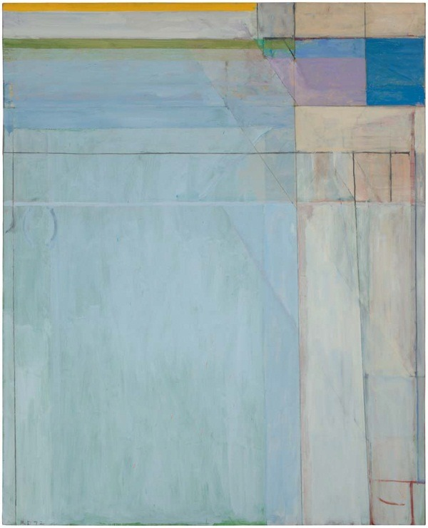 "Today on Modern Art Notes: I review ""Richard Diebenkorn: The Ocean Park Series"" at the Modern Art Museum of Fort Worth. The exhibition was co-organized by the Orange County Museum of Art. I rave about the show and find that it confirms that Diebenkorn's Ocean Park paintings are the apex of 20th-century abstract painting.  Image: Richard Diebenkorn, Ocean Park #54, 1972. Collection of the San Francisco Museum of Modern Art. SFMOMA has three Ocean Park paintings, the most of any art museum."
