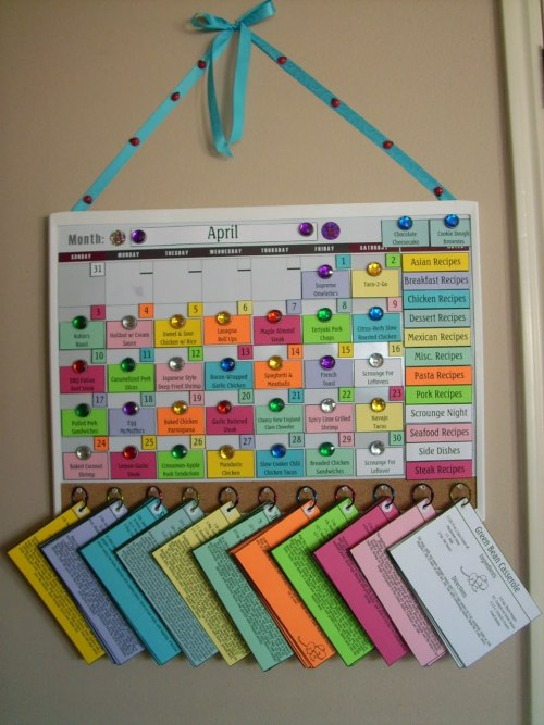 fi-tspo:  irresistiblyable:   This is an awesome way to organize your meal plans  Hooooooly crap  organise your life*