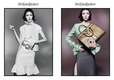 Yves Saint Laurent S/S2012 campaign: Model: Mariacarla Boscono/WOMEN ph:David Sims stylist:Joe McKenna hair:Guido Palau mu:Diane Kendal