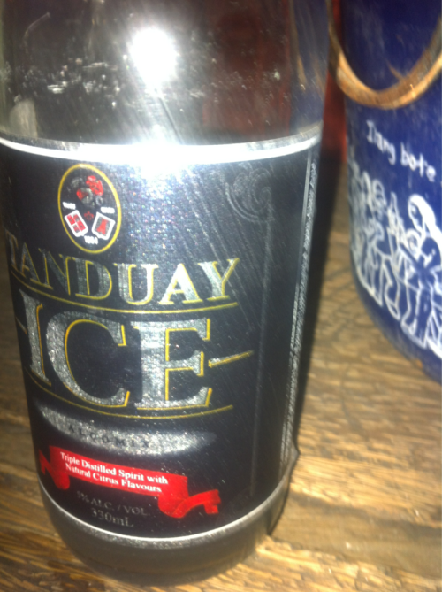 Tanduay ice now… Chill baby!