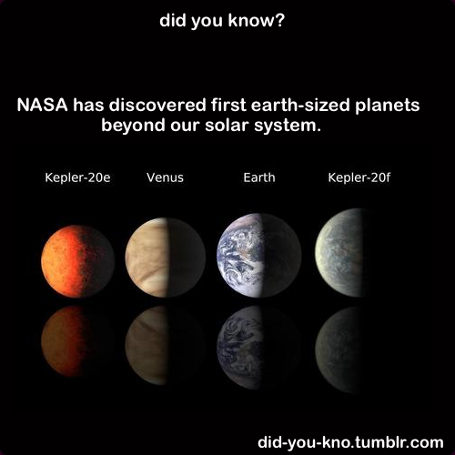 did-you-kno:  The image shows the comparison between the planets discovered and planets in our solar system. Source
