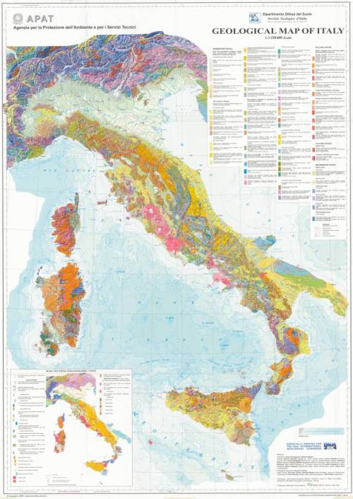 Geo maps! Back to my roots… scipsy:  The new Geological Map of Italy, 1 at 1,250,000