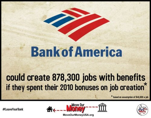 #leaveyourbank Bank of America.. job creation #infographic #occupy