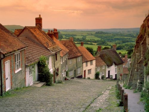 Gold Hill Cottages  Shaftesbury, England