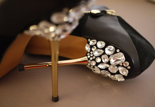 DIY Miu Miu Jeweled Heels