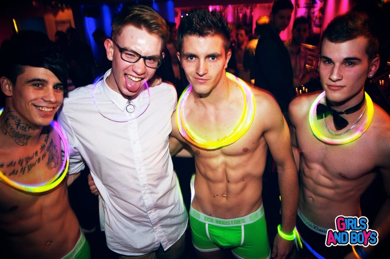 Me with the GoGo Dancers at Girls And boYs last night! LOL