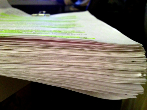 137 pages of notes and transcripts. This is how we make films