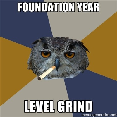fyeahartstudentowl:  Essentially what it feels like.  Maybe if we rename it, freshmen will stop complaining. It's seriously exactly what it is.
