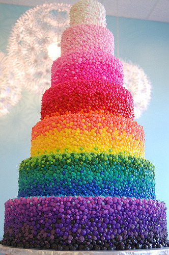 Rainbow wedding cake :)
