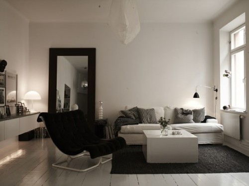 A good designed, minimalist living room.