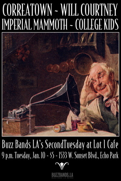 Correatown, Imperial Mammoth at Buzz Bands LA's SecondTuesday songwriter night on Jan. 10 at Lot 1