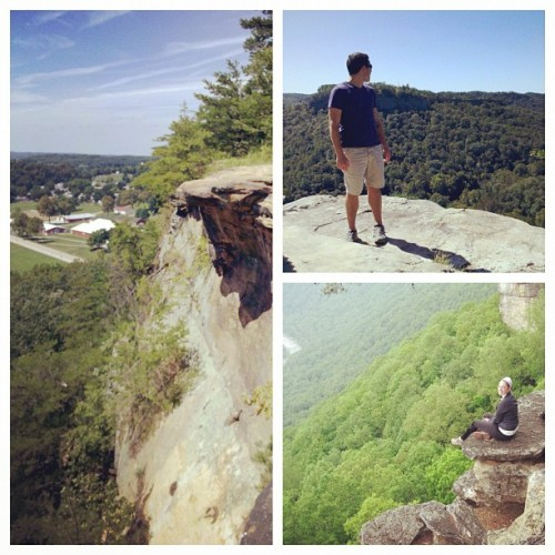 I guess I have an obsession with cliffs. #Kentucky, #West Virginia, and #Ohio :)  (Taken with instagram)