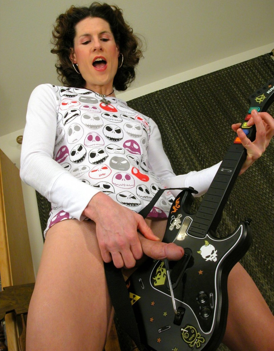 You unlocked the tranny on Guitar Hero