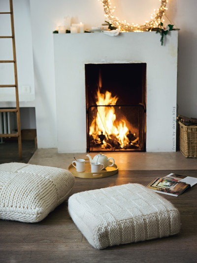 holiday fireplace french by design