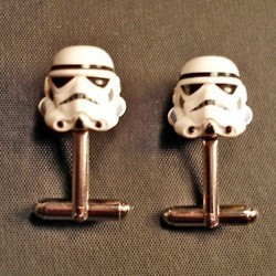 Cufflinks for the Star Wars nerd-  you can find these all over Etsy!