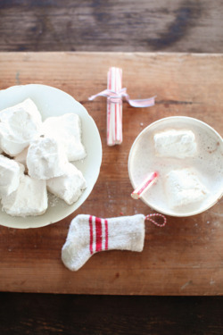 Homemade marshmallows in hot cocoa for the Holidays