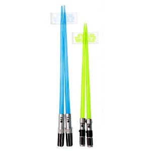 Star Wars wedding favors: Lightsaber chopsticks!