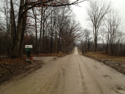 orchardspartan:  Raby Road, in East Lansing, Michigan, known to every runner worth his salt who's spent any time in the area. It looked perfect on this December day, though I wasn't there on a run, just driving out of my way to see an old friend.  Anyone else running more this winter in mid-Michigan thanks to the not-so-wintery temps?