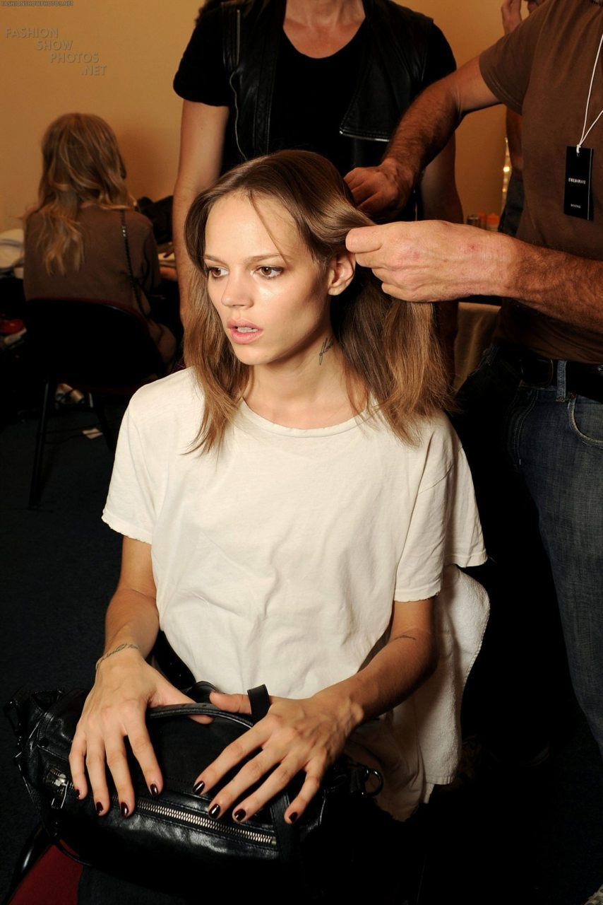 Freja backstage at Pucci.