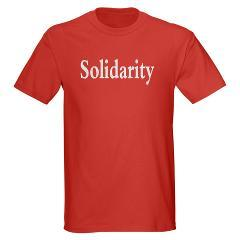 Solidarity Dark T-Shirt Solidarity T-Shirts and Gear. (via Occupy Wall Street Shop)