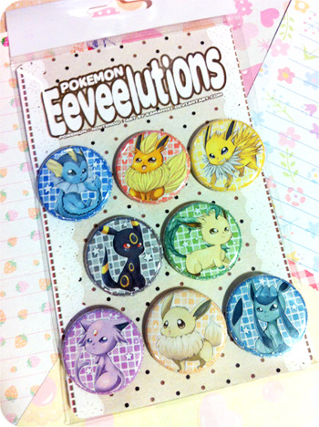 kamallie:  :U Eeveelution Button Set for future cons..man, I'm prepping really early o_o;;