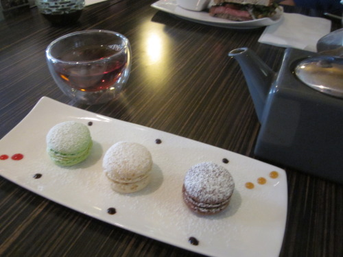 macarons & english breakfast tea @ Tranquil Tea Lounge