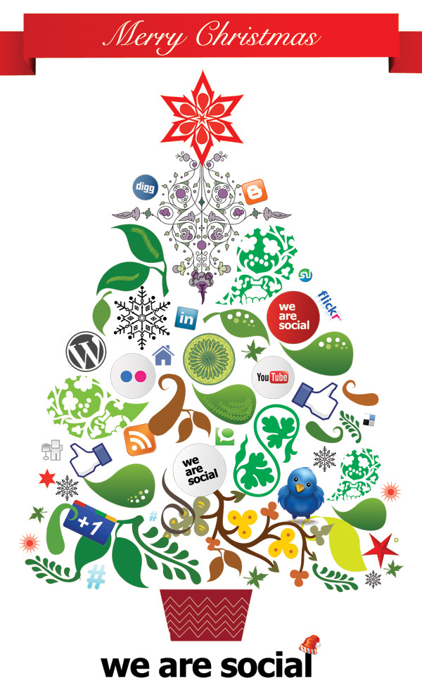 Wishing you a very Merry Christmas, from all of us at We Are Social :)