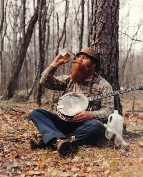 just sit yourself right down under a tree with a banjo and some booze.