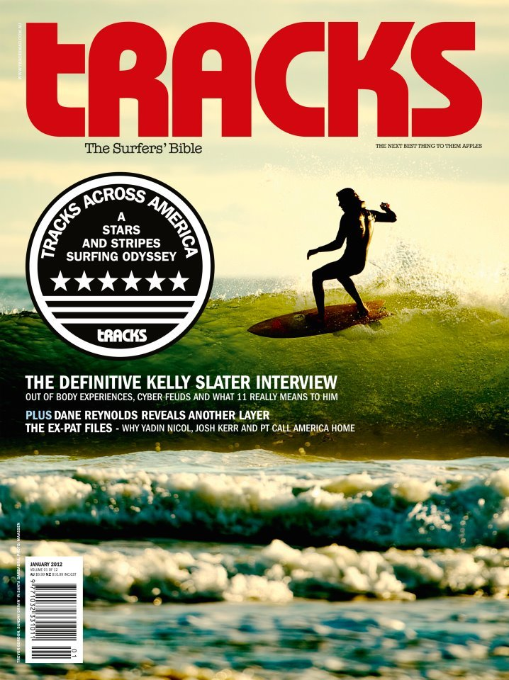 Trevor Gordon riding the Fush photo | Morgan Maassen Cover of Tracks Magazine December 2011