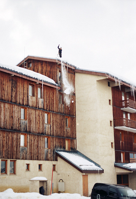 | ♕ |  Alpine ski resort hotel, France  | by © Jon Revill