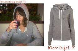 ACID: Where to get it?Alexa is wearing a grey hoodie in Nick Grimshaw's Twitpic which looks like this one from Topshop. Get yours here!