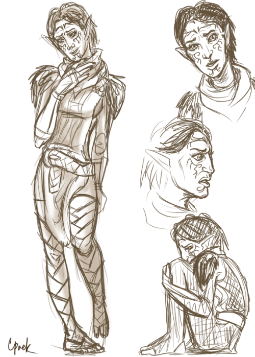 some doodles of merrill before bed.  I should really be doin my xmas gifts.  sshh. Merrill is much cuter.