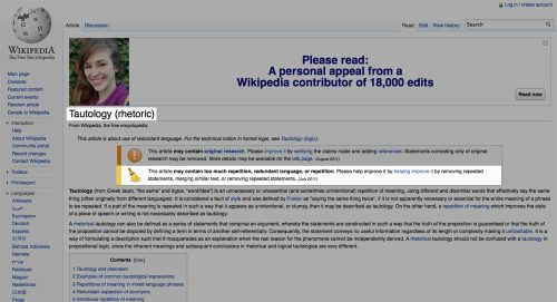 world-shaker:  TIL Wikipedia editors have a sense of humor.