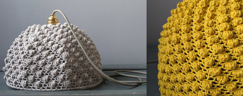 CROCHET of the DAY No. 4 - a LAMP of course! This was in my inbox this morning thx to the awesome ppl at CRAFT blog. I MUST make a cozy LAMP.