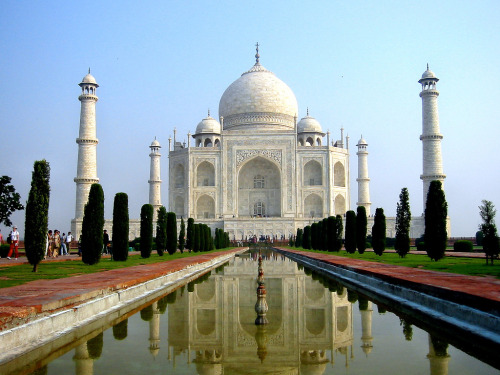 The Taj Mahal in India looking majestic